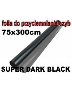 Folia Do Przyciemniania Szyb Super Dark Black 75X300Cm