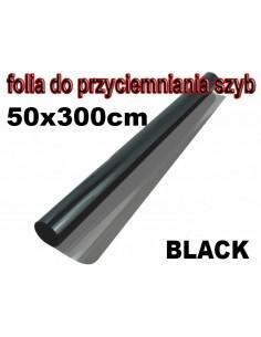 Folia Do Przyciemniania Szyb Black 50X300Cm