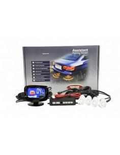 Czujniki Parkowania Vertex - 4 Sensory Białe Led Graficzny