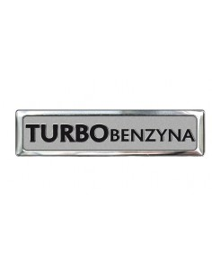 Aluminiowy Emblemat - Turbo Benzyna