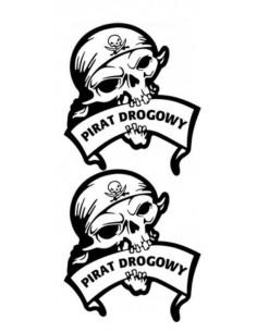 Naklejka - Pirat Drogowy (2Szt.)