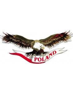 Naklejka Przeł + Napis Poland Na Wstędze 100X45Cm 70X50Cm