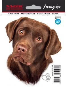 Naklejka - Pies Labrador 11X13,2Cm