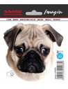 Naklejka - Pies Mops 11X10,5Cm