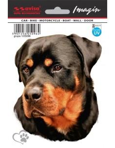 Naklejka - Pies Rottweiler 11X13,5Cm