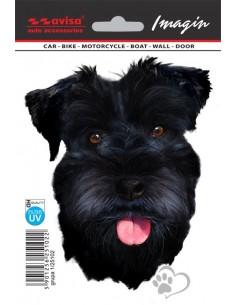 Naklejka - Pies Sznaucer Czarny 11X14Cm