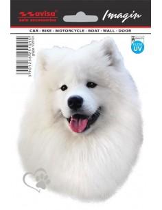 Naklejka - Pies Samojed 11X14,5Cm
