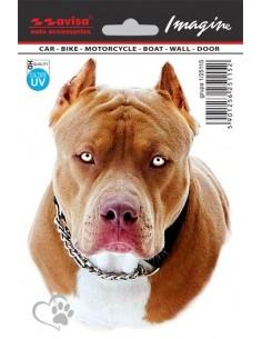 Naklejka - Pies Pit Bull 11X14,5Cm