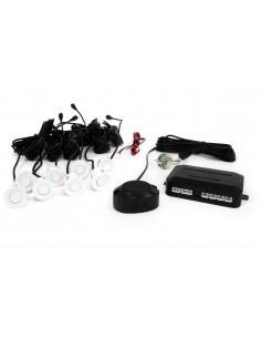 Zestaw Czujników Przód I Tył Buzzer 8 Sensorów Białe