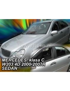 Owiewki Mercedes Klasa C W203 2000-2007R. (+Ot) Sedan