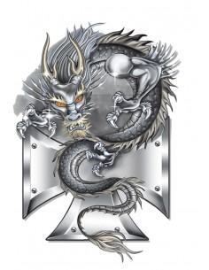 Naklejka Dragon 20X13Cm