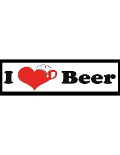 Naklejka - I Love Beer