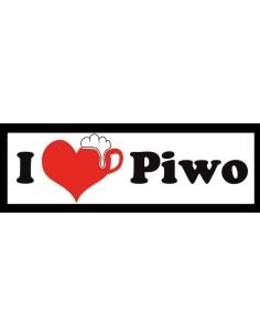 Naklejka - I Love Piwo