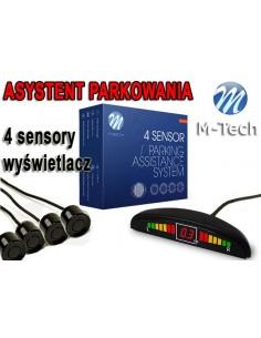 Czujniki Parkowania - Wyświetlacz 4 Sensory Czarne