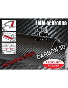 Folia Ochronna Carbon Czarna Termokurczliwa 10X200Cm