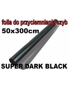 Folia Do Przyciemniania Szyb Super Dark Black 50X300Cm