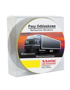 Folia Odblaskowa Biała Szer. 5Cm (Na Metry)