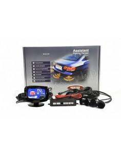 Czujniki Parkowania - 4 Sensory Czarne Led Graficzny Vertex