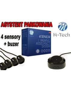 Czujniki Parkowania - Buzer 4 Sensory Czarne