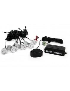 Zestaw Czujników Przód I Tył Buzzer 8 Sensorów Srebrne