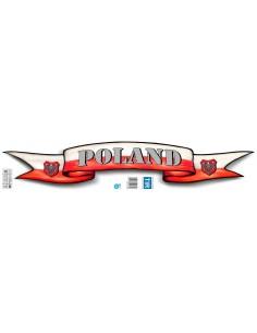 Naklejka Poland - Szarfa 70X13Cm