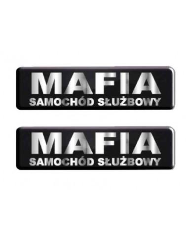 Żelowe Emblemay - Mafia Samochód Służbowy (55X15Mm) - 2Szt.