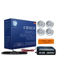 Czujniki Parkowania Cp24 - 4 Sensory Srebrne