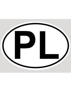Naklejka Pl 16 X 10,5Cm