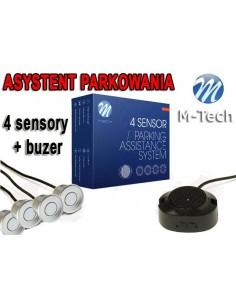 Czujniki Parkowania - Buzer 4 Sensory Srebrne
